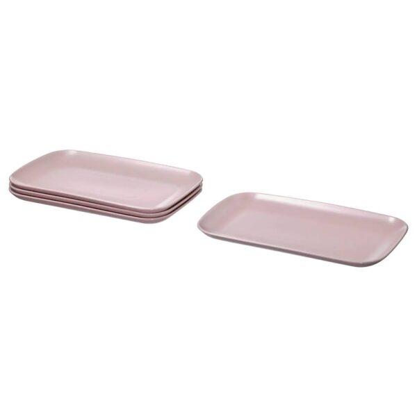 ФЭРГКЛАР Тарелка, матовая поверхность светло-розовый 30x18 см - 904.782.00