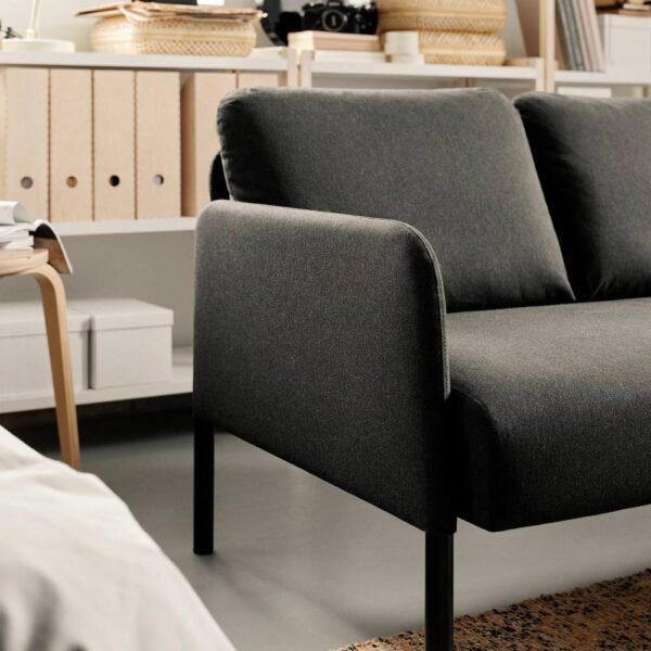 ГЛОСТАД 2-местный диван, Книса темно-серый - 304.890.13