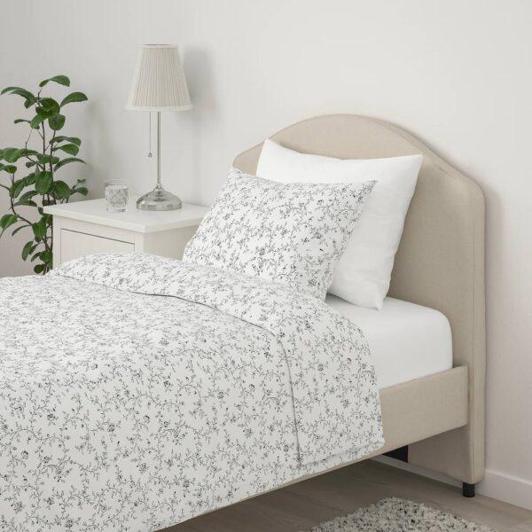 ХАУГА Каркас кровати с обивкой, Лофаллет бежевый 90x200 см - 205.063.53