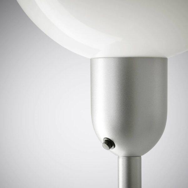 ХЕКТОГРАМ Торшер/лампа для чтения, серебристый/белый - 904.863.42
