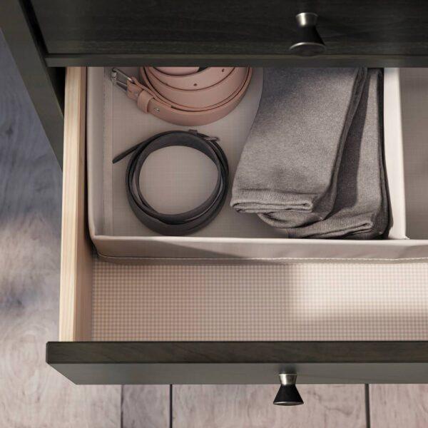 ИДАНЭС Комод с 6 ящиками, темно-коричневый морилка 162x95 см - 704.587.07