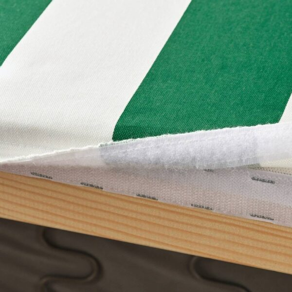 КЛИППАН Чехол на 2-местный диван, Радбюн зеленый/белый - 104.601.76