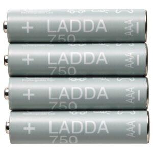 ЛАДДА Аккумуляторная батарейка, HR03 AAA 1,2 В 750 мА•ч - 305.098.22
