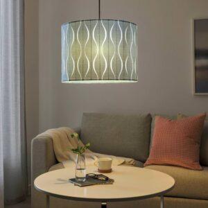 ЛЁКНЭС / SUNNEBY СУННЕБЮ Подвесной светильник, синий/серебристый 42 см - 194.160.99