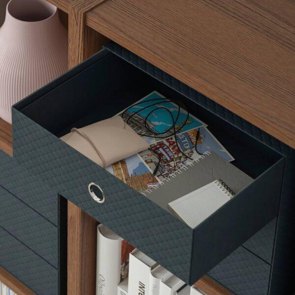 ПАЛЬРА Мини-комод с 3 ящиками, черный 33x26 см - 604.681.65