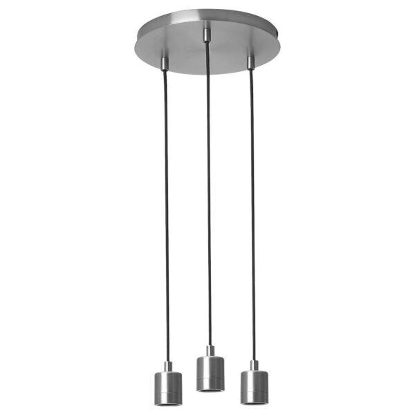 СКАФТЕТ Тройной шнур-подвес, потолочный, круглой формы никелированный - 704.934.90