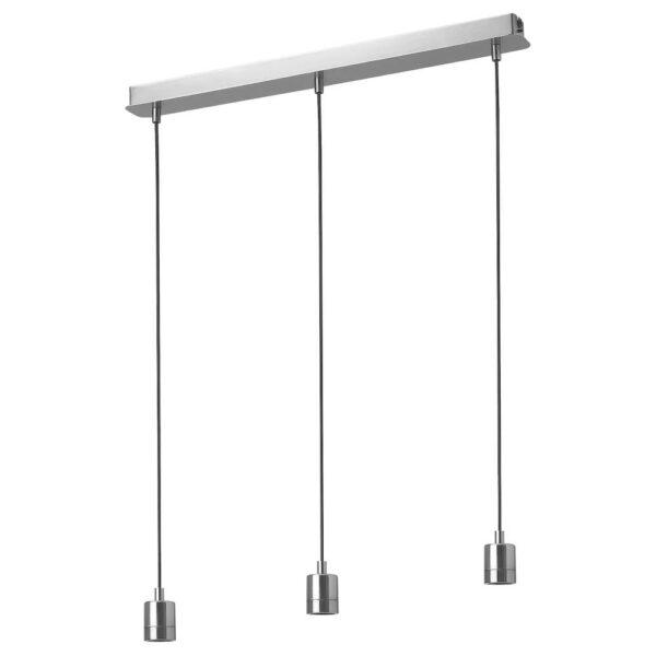 СКАФТЕТ Тройной шнур-подвес, потолочный, никелированный прямоугольник - 404.934.82