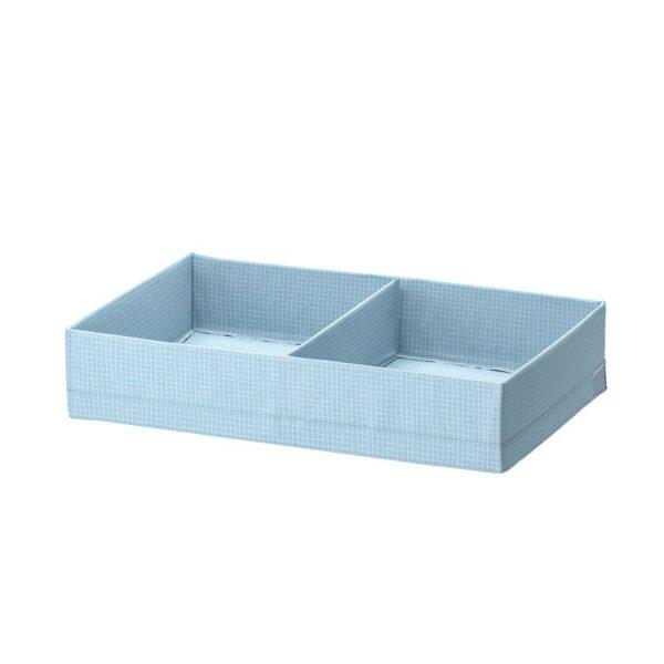 СТУК Ящик с отделениями, сине-серый 34x51x10 см - 504.939.19
