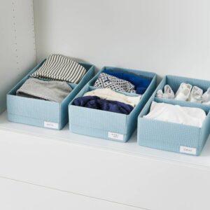 СТУК Ящик с отделениями, сине-серый 20x34x10 см - 304.939.15
