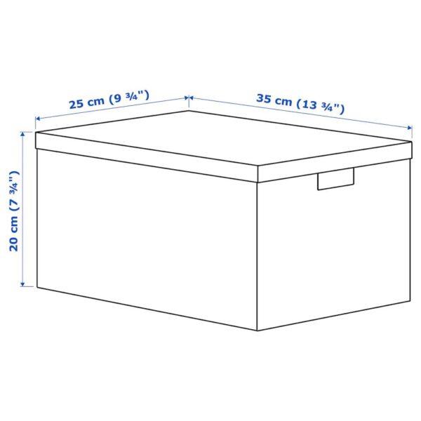 ТЬЕНА Коробка с крышкой, синий 25x35x20 см - 804.953.61