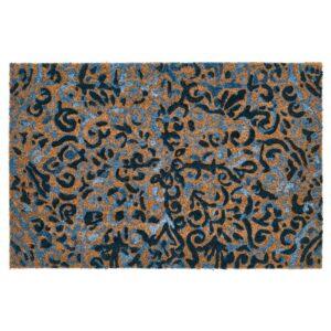ЭНГСКЛОККА Придверный коврик, неокрашенный/синий 40x60 см - 805.001.31