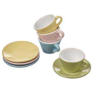 ДУКТИГ Игрушечные чашки/блюдца, 8 предм., разные цвета - 404.902.47