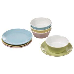 ДУКТИГ Игрушечные тарелки/миски, 8 предм., разные цвета - 004.902.54