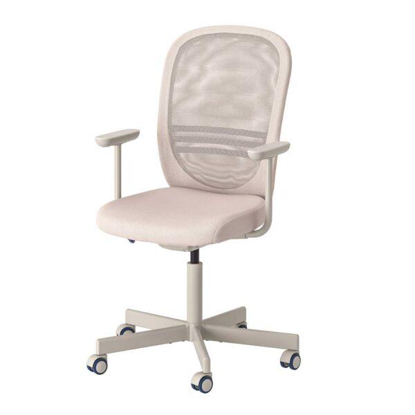 ФЛИНТАН Рабочий стул с подлокотниками, бежевый - 294.244.66