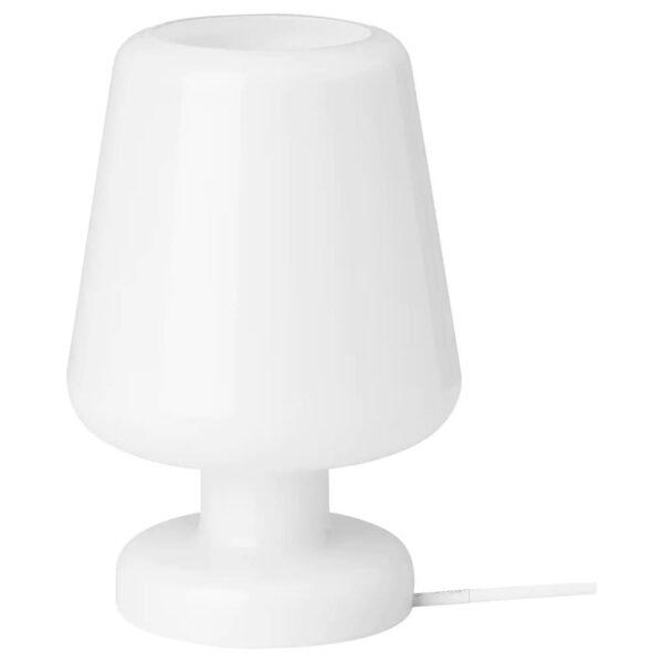 ГУЛДАЛЬГ Лампа настольная, стекло белый 25 см - 404.936.94