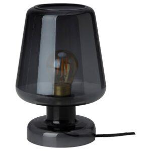 ГУЛДАЛЬГ Лампа настольная, стекло синий 25 см - 504.936.79