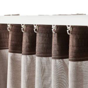 ХАННАЛИЛЛ Гардины, 2 шт., светло-коричневый 145x300 см - 704.984.59