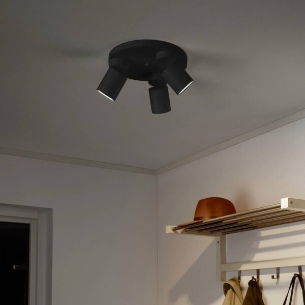 НИМОНЕ Потолочный софит, 3 лампы, антрацит - 004.150.85