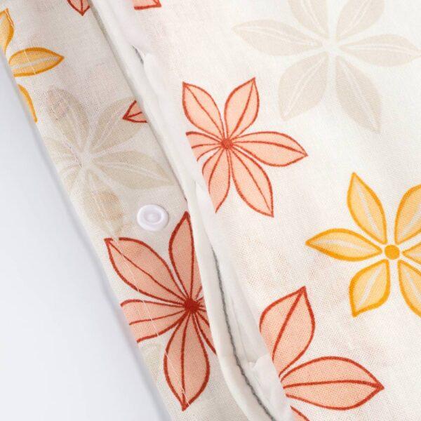 СКЭРММАЛ Пододеяльник и 2 наволочки, цветок 200x200/50x70 см - 505.197.83