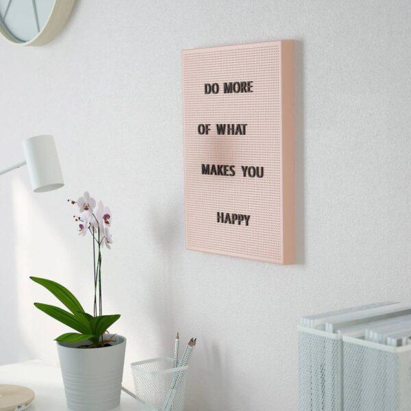 СВЕНСОС Перфорированная панель с буквами, розовый 30x40 см - 204.977.11