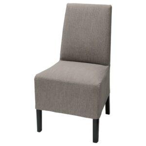 БЕРГМУНД Чехол на стул, средний, Нольхага серый/бежевый - 904.862.43