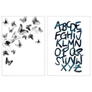 БИЛЬД Постер, Бабочки 50x70 см - 505.076.38