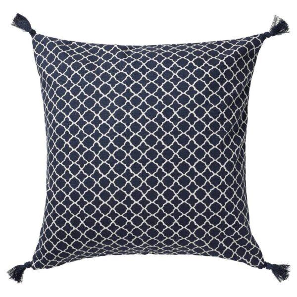 ЦИТРУСТРЭД Чехол на подушку, синий/белый 50x50 см - 905.017.81