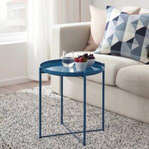 ГЛАДОМ Стол сервировочный, глянцевый темно-синий 45x53 см - 805.072.55