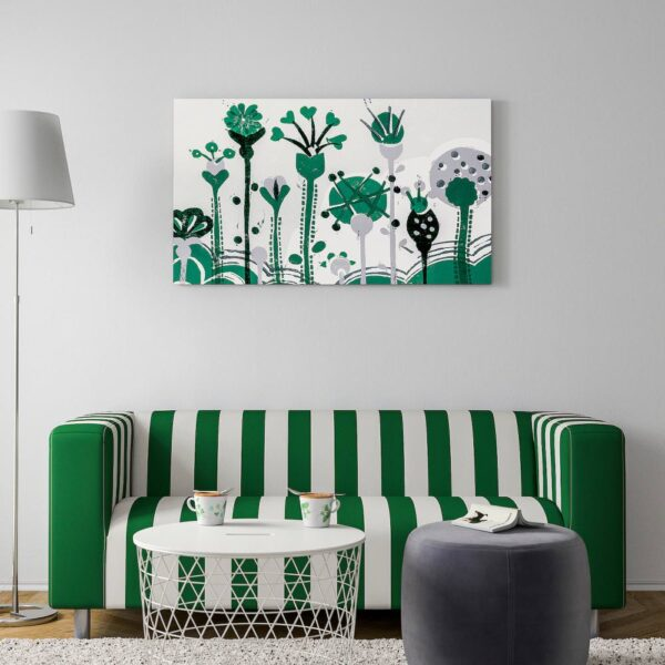 ПЬЕТТЕРИД Картина, Зеленые цветы 118x78 см - 405.074.98