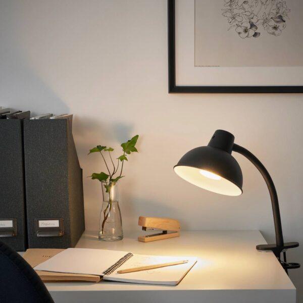 СКУРУП Лампа с зажимом, черный - 004.899.67