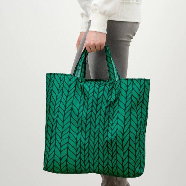 СКЮНКЕ Сумка, зеленый/черный 45x36 см - 904.850.93