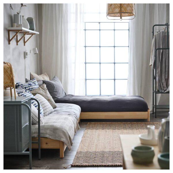 УТОКЕР Штабелируемые кровати с 2 матрасами, сосна/осванг жесткий 80x200 см - 294.281.29