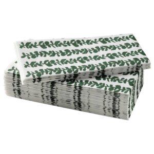 ВИНТЕРСНЁ Салфетка бумажная, с рисунком/зеленый 38x38 см - 205.110.43