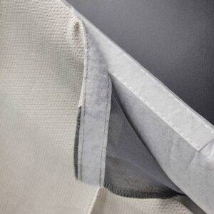 БЕРГМУНД Чехол для стула, длинный, колбуда бежевый/темно-серый - 204.810.41