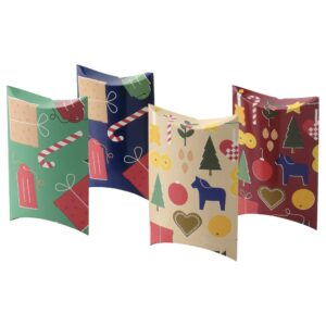 ВИНТЕР 2021 Коробка подарочная, разные орнаменты/разноцветный 13x9 см - 004.996.26