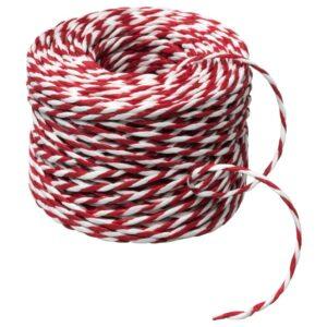 ВИНТЕР 2021 Подарочный шнурок, белый/красный 40 м - 704.996.56