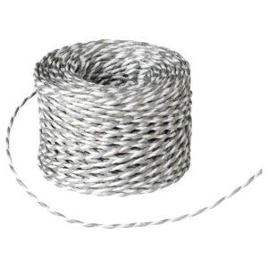 ВИНТЕР 2021 Подарочный шнурок, белый/серебристый 40 м - 004.996.69