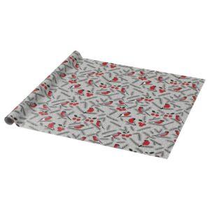 ВИНТЕР 2021 Рулон оберточной бумаги, орнамент «птица» серый 3x0.7 м - 004.992.83
