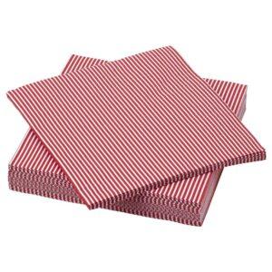 ВИНТЕР 2021 Салфетка бумажная, орнамент «полоска» красный/белый 33x33 см - 304.983.43