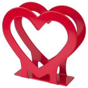 ВИНТЕР 2021 Салфетница, в форме сердца красный - 104.948.88
