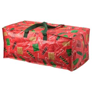 ВИНТЕР 2021 Сумка для хранения, Рождественские узоры красный 35x73x30 см/76 л - 404.997.14